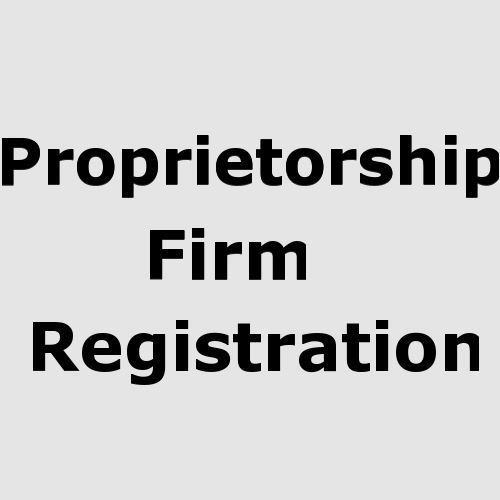 Sole Proprietorship Firm Registration