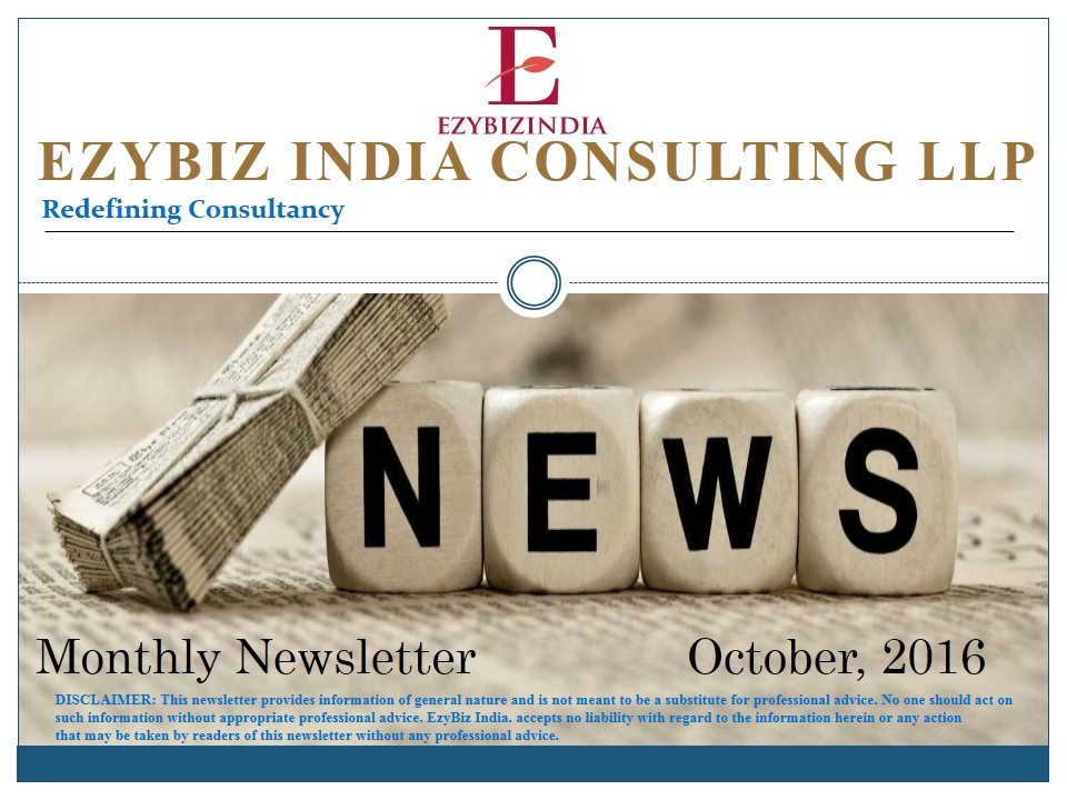 Ezybiz India Newsletter October